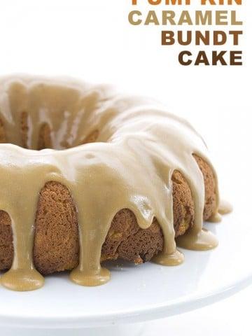 Low Carb Grain-Free Pumpkin Caramel Bundt Cake Recipe. THM LCHF Banting