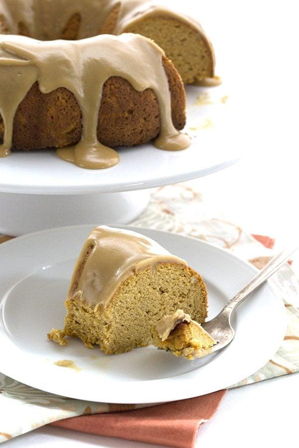 Low Carb Pumpkin Caramel Cake. LCHF THM Banting Keto Recipe