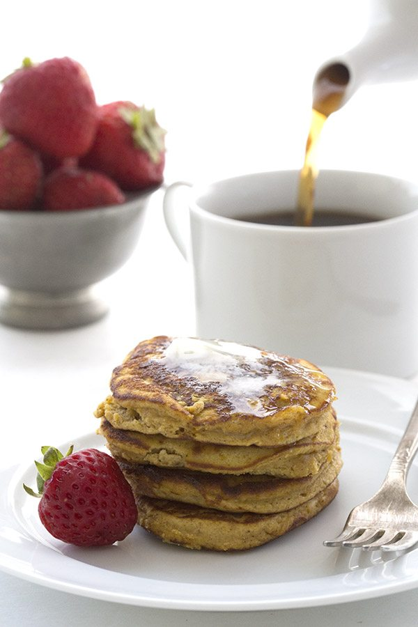 These little single serve pumpkin pancakes make a great low carb breakfast