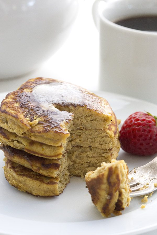 Healthy Low Carb Pumpkin Pancakes. Keto LCHF THM recipe