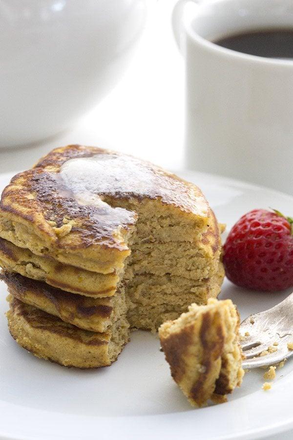 Healthy Low Carb Pumpkin Pancakes. Keto LCHF THM recipe