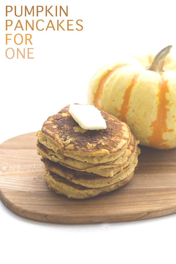 Low Carb Coconut Flour Pumpkin Pancakes for One