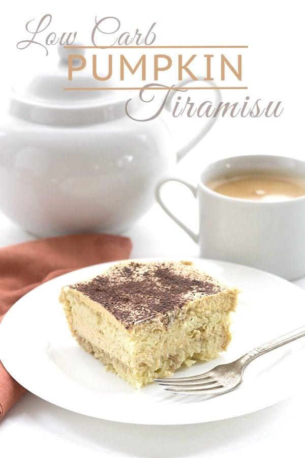 Low Carb Keto Pumpkin Tiramisu Recipe. LCHF THM Banting Atkins. Grain-free and Sugar-Free