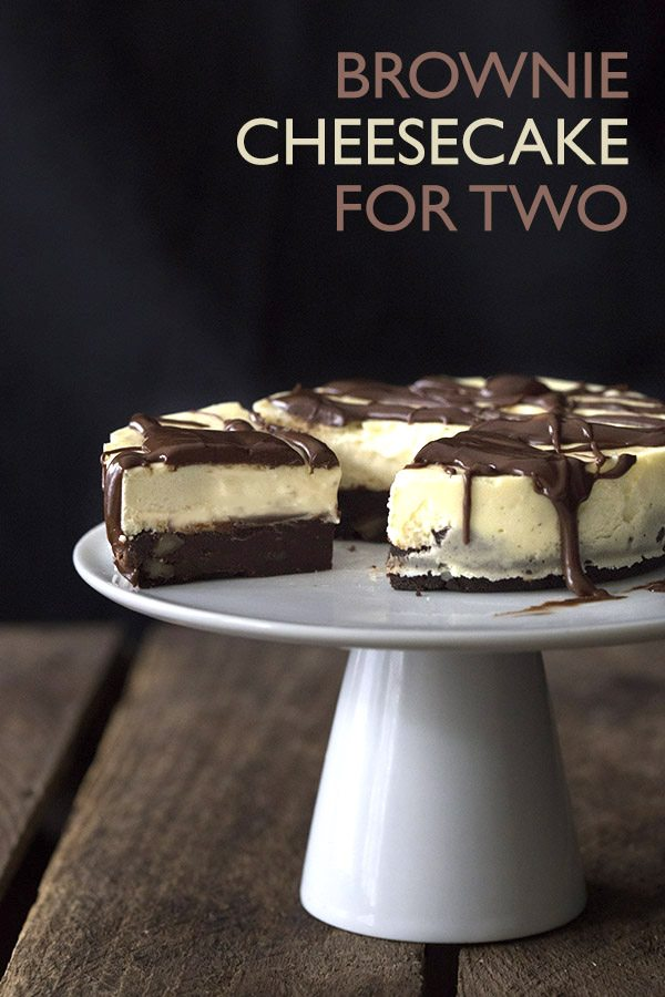 Low Carb Brownie Cheesecake for Two. Easy LCHF Keto dessert recipe.