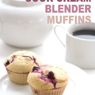 Low Carb Cranberry Sour Cream Blender Muffins. Grain-free and sugar-free
