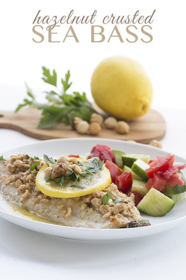 Low Carb Hazelnut Crusted Sea Bass Recipe. LCHF Keto THM Banting Recipe