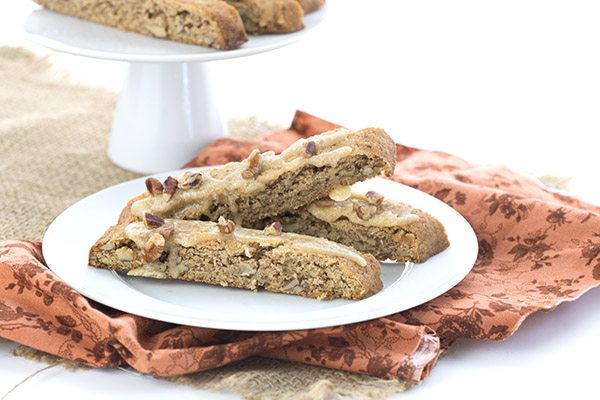 Low Carb Pecan Pie Biscotti. LCHF Keto THM Banting recipe
