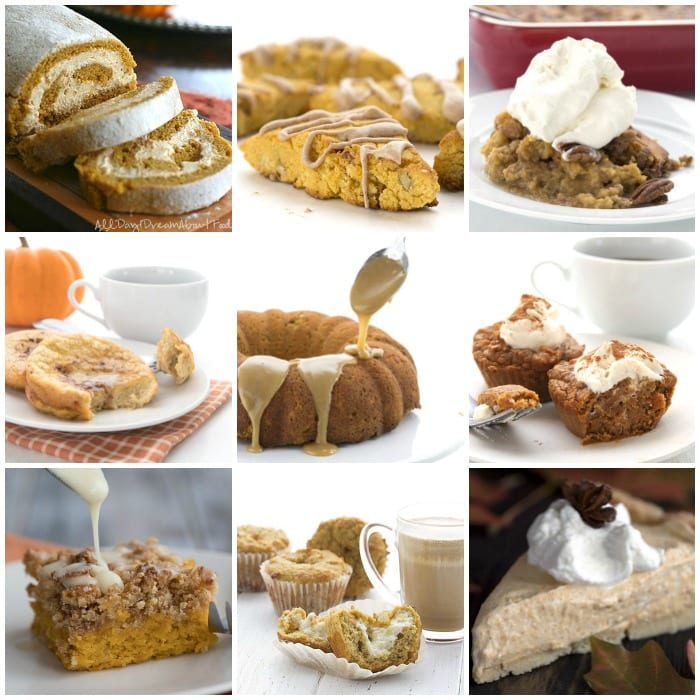Pumpkin recipe Collage from All Day I Dream About Food