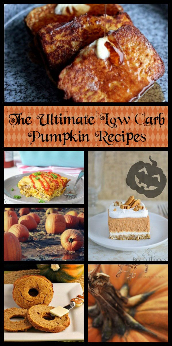 The ultimate collection of low carb pumpkin recipes. Yummy!