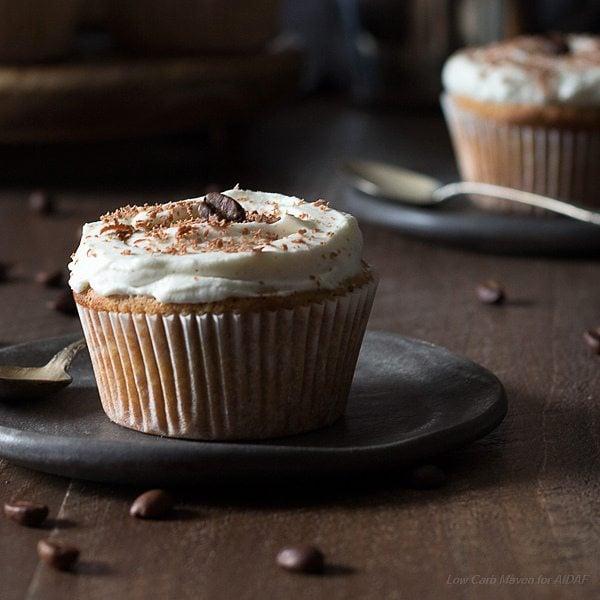 Healthy delicious low carb Vanilla Latte Cupcakes.