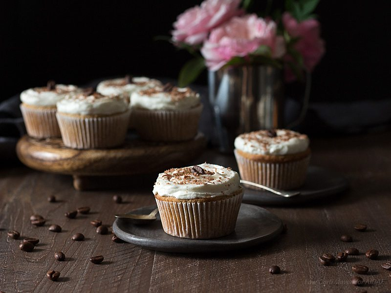 Low Carb Keto Vanilla Latte Cupcakes Recipe