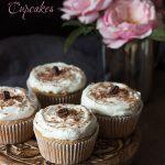 Low Carb Grain-Free Vanilla Latte Cupcakes. Keto THM Banting Atkins recipe.