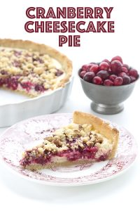 Keto Thanksgiving Dessert! Creamy cranberry cheesecake pie.
