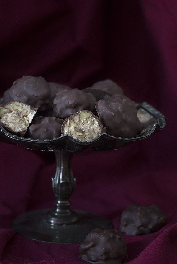 Low Carb Grain-Free German Chocolate Truffles. LCHF Banting Keto THM recipe.