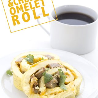 Sausage & Cheese Omelet Roll