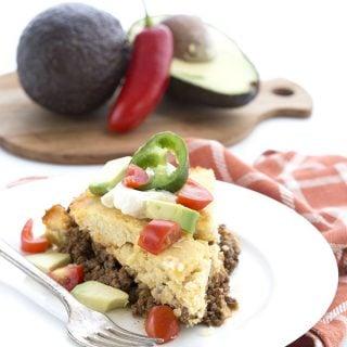 Low Carb Grain Free Tamale Pie. LCHF Keto Banting THM recipe.