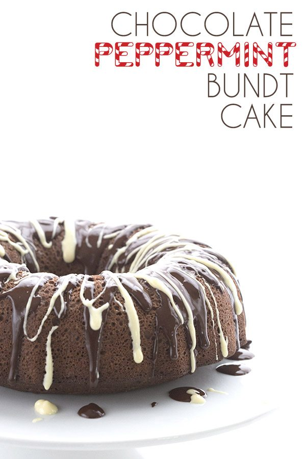 A healthy holiday stunner! Low Carb and Grain-Free Chocolate Peppermint Bundt Cake recipe.