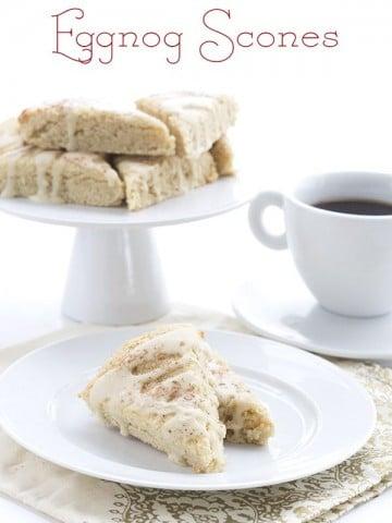 Low Carb Grain-Free Eggnog Scones. LCHF Keto Banting THM Recipe