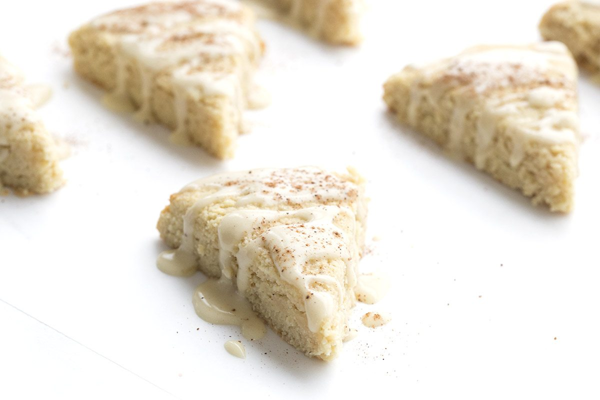 Yummy festive treat! Low carb Eggnog Scones.