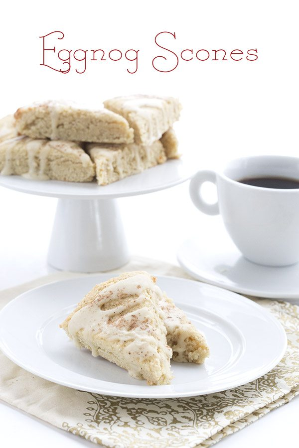 Low Carb Grain-Free Eggnog Scones. LCHF Keto Banting THM Recipe