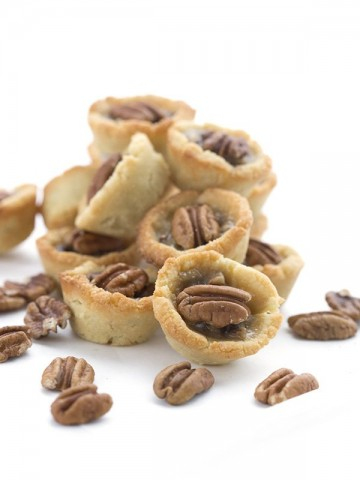 Low Carb Keto Pecan Tassies. Little pecan tartlets made with cream cheese.