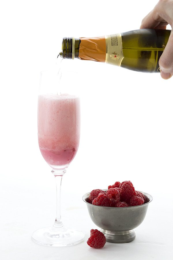 Happy New Year! Ring in 2017 with a delicious low carb Raspberry Cream Mimosa