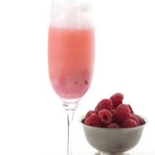 Raspberry Cream Mimosas