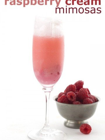 Low Carb Raspberry Cream Mimosas. Ring in the new year with this refreshing cocktail recipe.