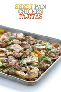 Low Carb Sheet Pan Chicken Fajitas
