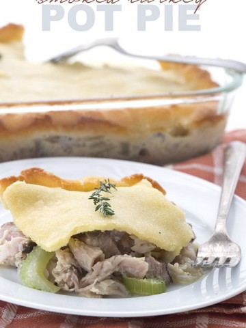 Low Carb Turkey Pot Pie made with smoked turkey, Extra delicious!