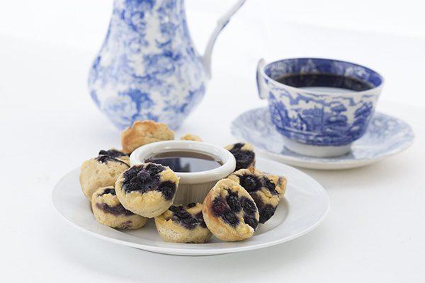 Low Carb Keto Blueberry Pancake Bites. THM Banting Atkins recipe.