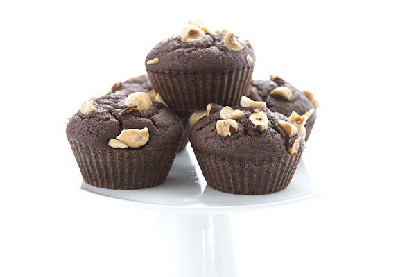 Low Carb Chocolate Hazelnut Muffins