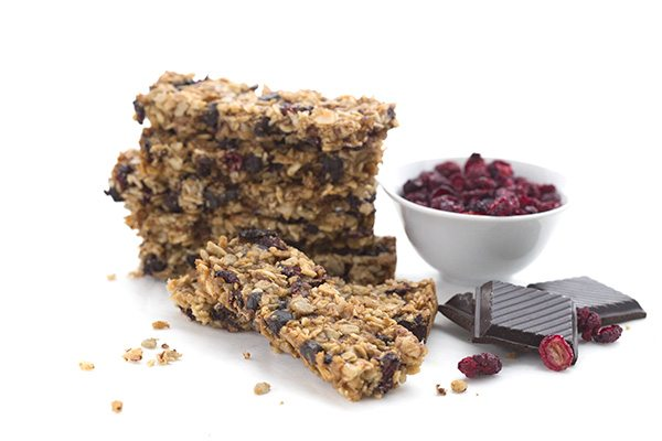 Sugar-free cranberries and chocolate chips in a delicious grain-free granola bar recipe.