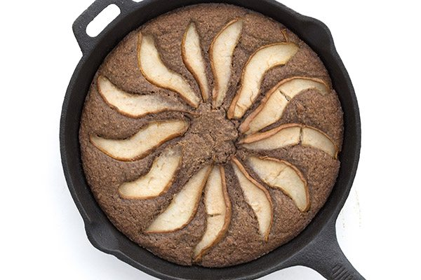 Low Carb Ginger Pear Skillet Cake