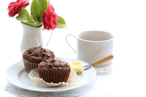 Low Carb Mocha Chocolate Chip Muffins