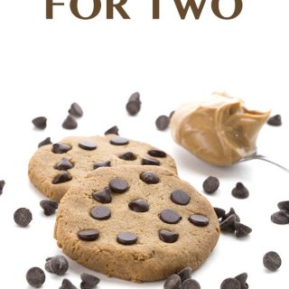 Low Carb Peanut Butter Cookies for Two. Grain-free Keto THM Banting LCHF recipe.