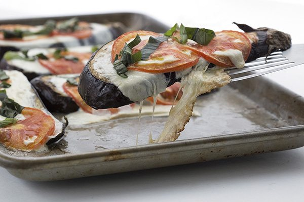Low Carb Roasted Eggplant Caprese