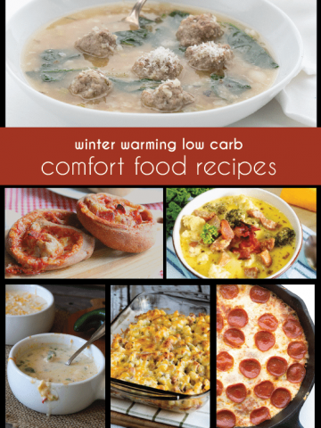 The best low carb and keto Comfort Food Recipes for winter!