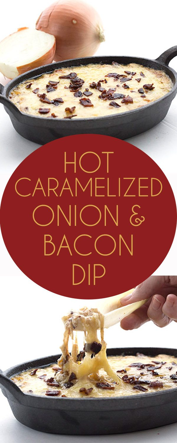 Hot Caramelized Onion Dip - Low carb keto appetizer recipe