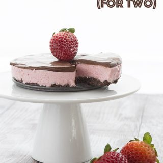 Chocolate Strawberry Cheesecake for Two