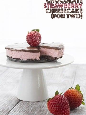 Mini Low Carb Keto Strawberry Cheesecake Recipe
