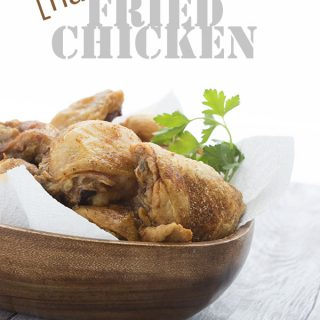 The best low carb keto fried chicken recipe. No breading at all, just unbelievably crispy skin!