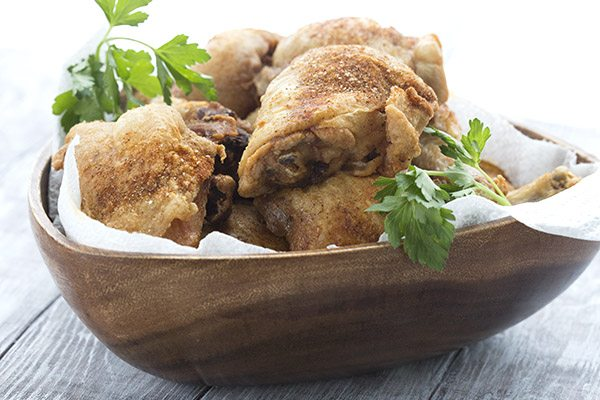 Low Carb Naked Fried Chicken Recipe. Deep fried to perfection!