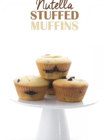 Low Carb Sugar Free Nutella Stuffed Muffins