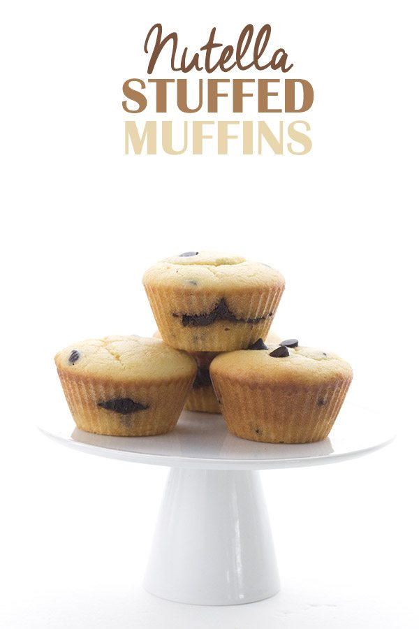 Low Carb Sugar Free Nutella Stuffed Muffins