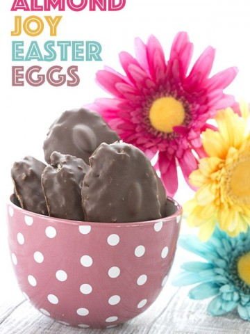 Easy and healthy Easter Candy. Low Carb Almond Joy Easter Eggs.