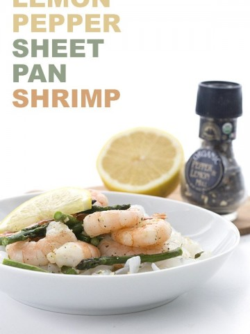 Easy low carb dinner idea. Sheet Pan Lemon Pepper Shrimp and Asparagus.