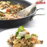 Easy keto Mexican Cauliflower Rice Skillet Recipe