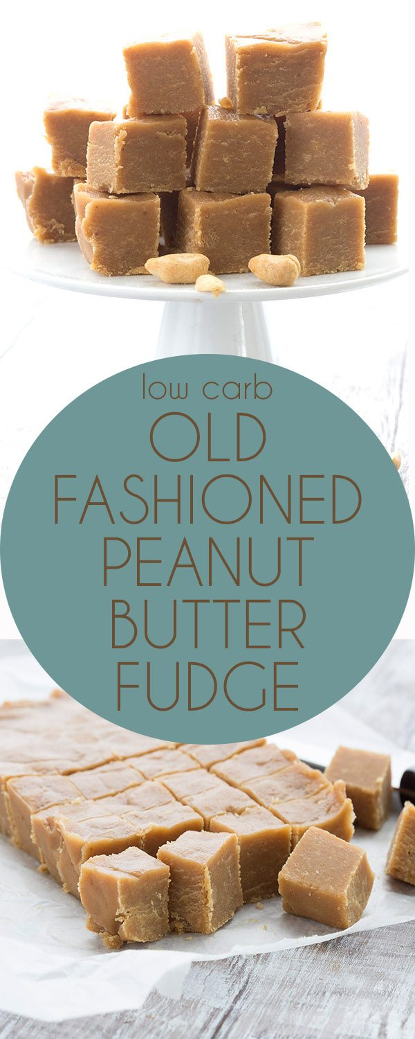 Simply the best low carb keto peanut butter fudge. Made in the old fashioned style!
