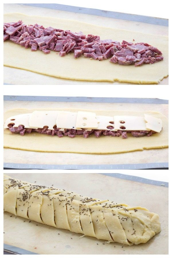 How to make low carb Reuben Stromboli
